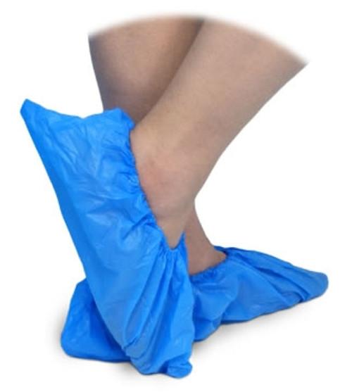 Plastic Shoe Covers, Waterproof, Blue, 500/box