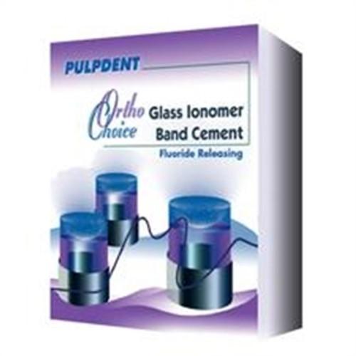 Pulpdent Ortho Choice Glass Ionomer Band Cement Kit, 30g powder, 15mL liquid