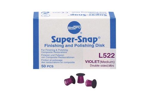 Shofu Super-Snap Finishing Discs Dark Violet Medium Double Sided 50/box