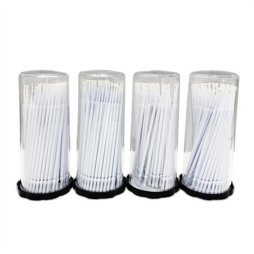 Valuemed Professional Micro Applicator Brushes Premium Tube White Super Fine 400/pkg