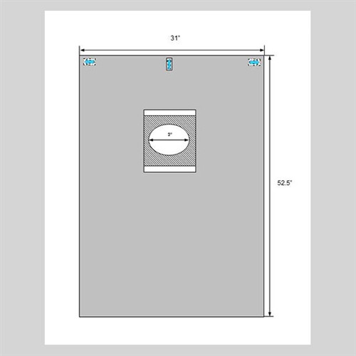 """Welmed ClearView Eye Drape, 31"""" X 51"""", 3"""" x 2"""" Oval Aperture with Surrounding Adhesive SOLD BY THE EACH"""