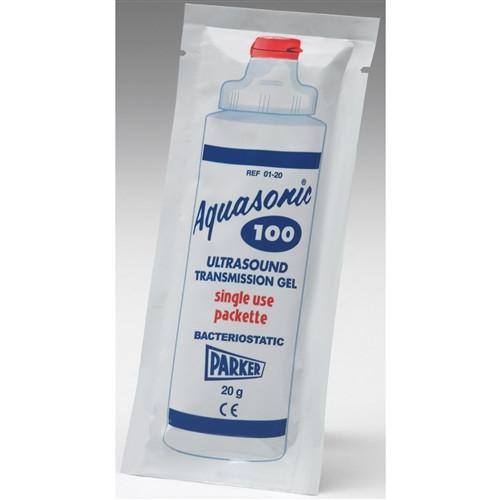 Aquasonic 100 Ultrasound Gel, Non-Sterile, 20gram Packets 100/box
