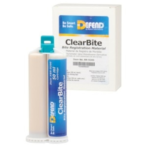 Defend ClearBite Bite Registration Material 2x50ml Cartridges & 6 mix tips