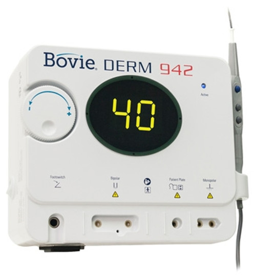 the Bovie Derm 942 was created to be the most reliable and durable desiccator available in Canada today.