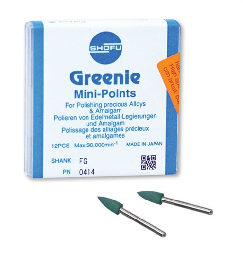 Shofu Greenie Polishers Mini-Point CA 12/box