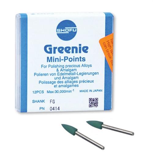 Shofu Greenie Polishers Mini-Point FG 12/box