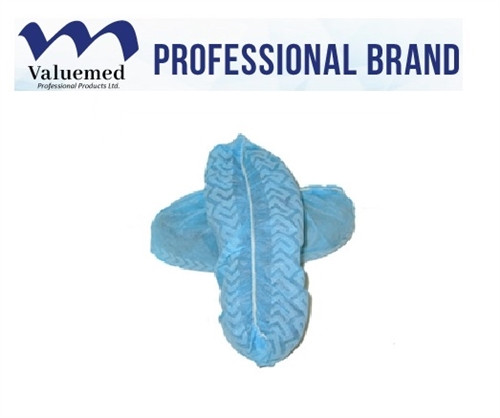 Valuemed Professional Shoe Covers Regular, Blue, Non-Skid 100/box