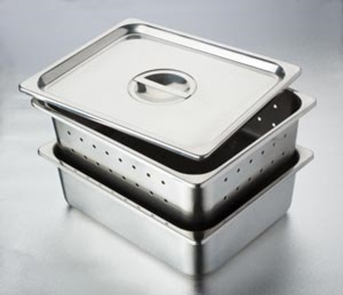 Instrument Tray Cover Only, Stainless Steel, Recessed Grip, For 114-4271