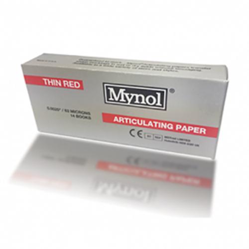 "Mynol Articulating Thin Red 0.0025"" 63 Microns 140/box"