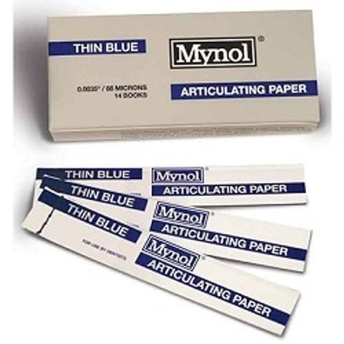 "Mynol Articulating Thin Blue .0035"" 88 Microns 144/box"