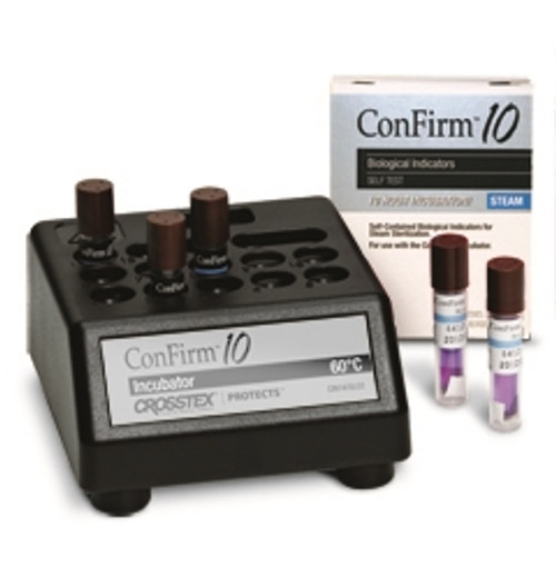 Crosstex Confirm 10 Biological Monitoring System 10 Hour Incubator & Log Book