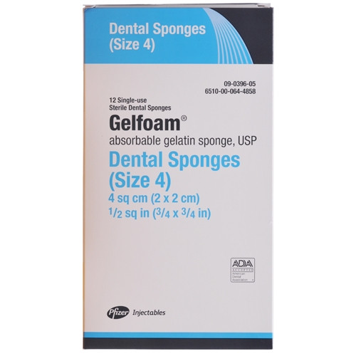 Pfizer Gelfoam Sterile Absorbable Gelatin Sponges Size 4, 12/box