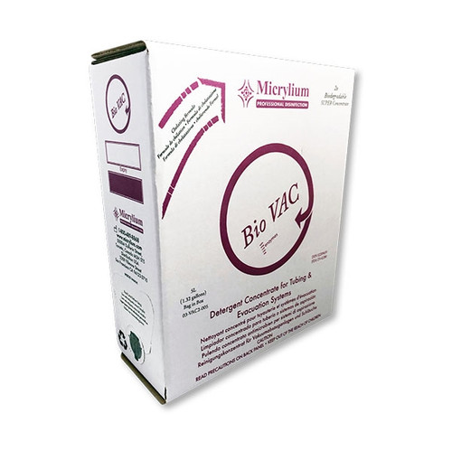 Micrylium BioVAC Evacuation System Cleaner 2x Concentrate 5L Bag in a Box