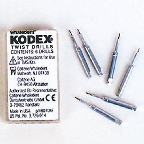 Coltene Whaledent K92 Kodex Twist Drills 6/pk