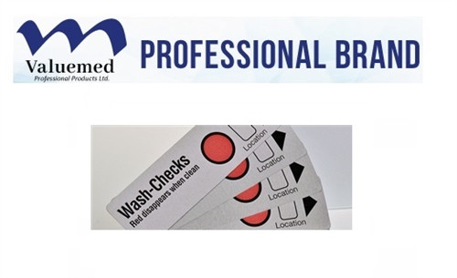 Valuemed Professional Wash-Checks Washer/Disinfector Test Strips 100/bag