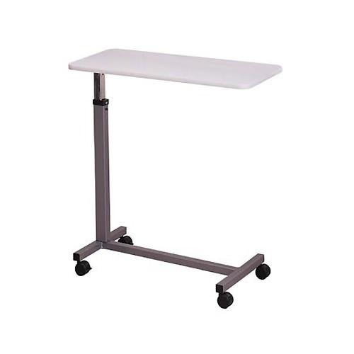 Overbed Table Base, Gray Laminate Top, Gray Epoxy Finish on Base