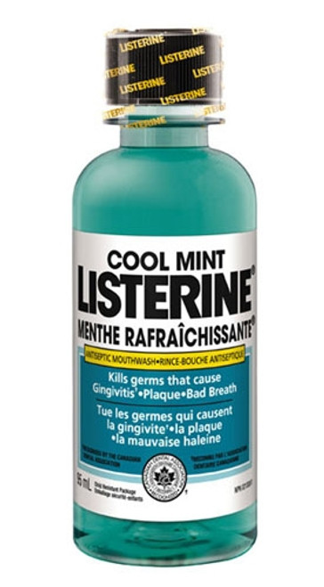 Johnson & Johnson Listerine Cool Mint  95mL Trial Size 24/case