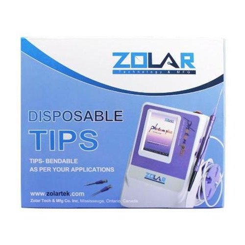 Zolar Disposable Tips with Multiple Angle Options 10mm-300um 25/box