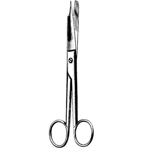 "Ingrown Nail Splitting Scissor 6"" (15cm), One Serrated Blade"