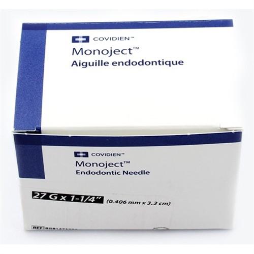 Monoject Endodontic Needle 27 x 1 (31.7mm), Yellow 25/box