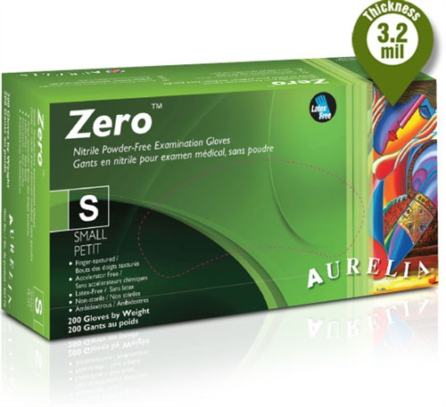 Aurelia ZERO Nitrile Powder Free Gloves 200/box EXTRA SMALL