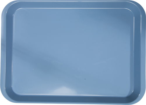 """B-Lok Instrument Flat Tray, Plastic, Ritter Size, 13.5""""L x 9.6""""W X 3/4""""H - Blue"""