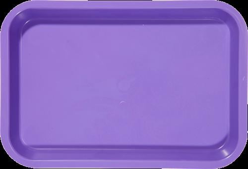 """B-Lok Instrument Flat Tray, Plastic, Ritter Size, 13-3/8"""" x 9-5/8"""" x 7/8"""" -  Purple"""