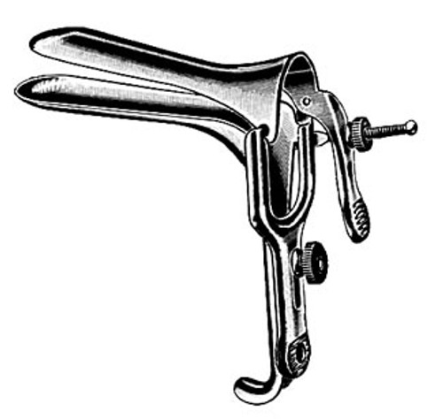 Graves Vaginal Speculum, Small, 75mm x 20mm, Stainless Steel - Floor Quality
