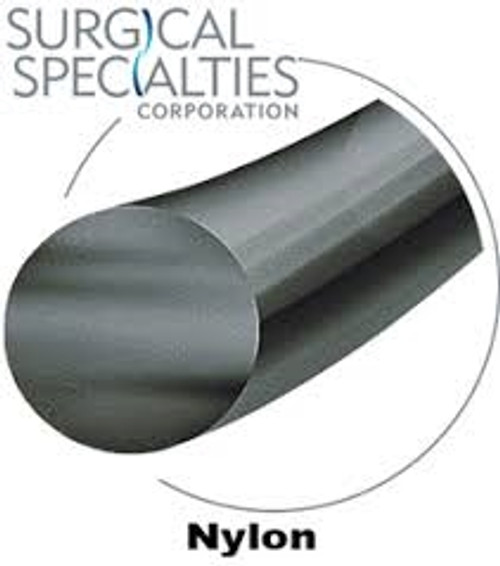 "Look Suture Nylon Black Monofilament 5-0 945B, 10""/25cm, C6, 12/box"