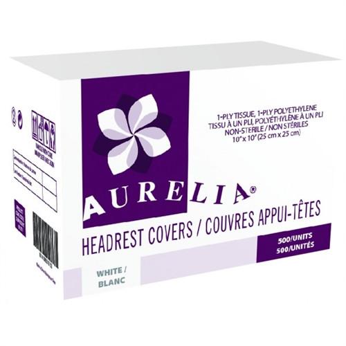 "Aurelia Headrest Covers 10""x10"" White 500/case"
