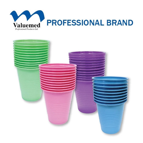 Valuemed Plastic Cups 5oz  1000/case Dusty Rose