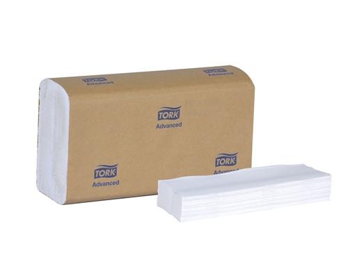 Tork Advanced Multifold Hand Towel, 1ply, White, 16pkg/case