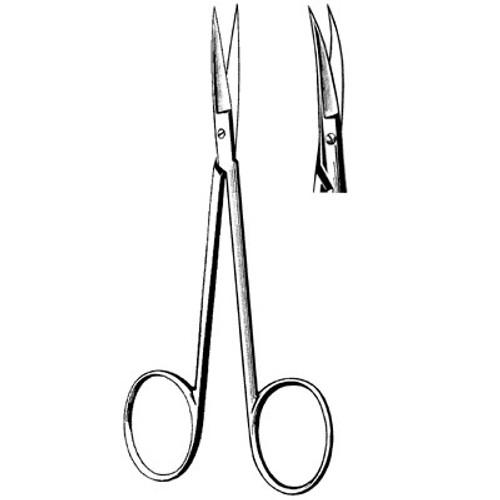 "Sterile Disposable Iris Scissor, 4.5"" Curved"