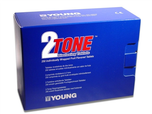Young 2-Tone Disclosing Solution Tablets 250/box