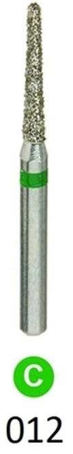 1Diamond Sterile Diamond Burs Flat End Taper 847-012 Coarse  25/pkg