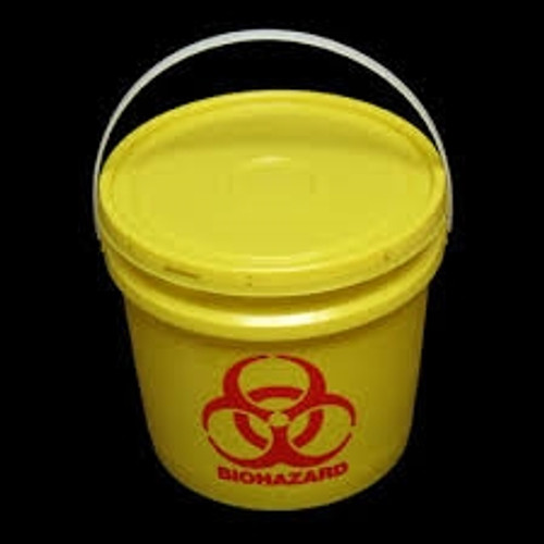 Biohazard Container 1 Gallon with Half Moon Snap on Lid