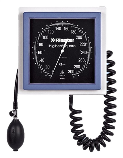 Riester Big Ben Wall Mount Aneroid, Square with Adult Cuff