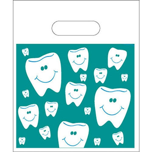 """Smiling Tooth Patient Bags 7.5""""x 9"""", 250/pack"""