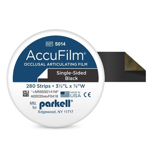 Parkell AccuFilm I Articulating Film Black, Single Sided 280/pkg