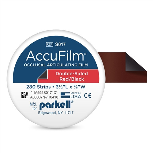 Parkell AccuFilm II Articulating Film, Red/Black, Double Sided 280/pkg