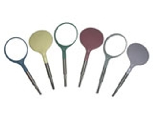 Zirc Crystal HD #4 Classic Assorted Mouth Mirror (12 pack)