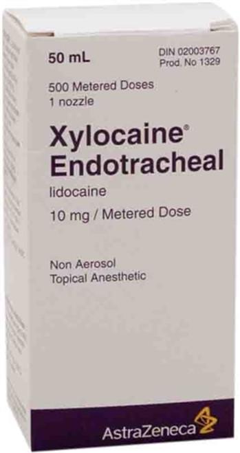 Xylocaine Endotracheal (Lidocaine) Non-Aerosol Spray 10mg Metered Dose 50ml Non-Returnable