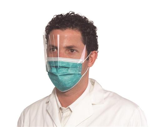 Medicom SafeMask Premier Elite Earloop Mask with Shield (Lvl 3), 25/box