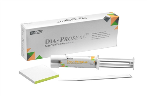 DiaDent Dia-ProSeal Regular Kit (#1003-201) Contains: 1 Syringe of 16 g (6.5 g Base + 9.5 g Catalyst), 1 Mixing Pad and 1 Spatula