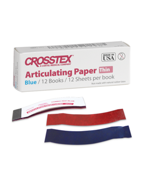 Crosstex Articulating Paper Thin Blue-Red Combo Curved 0.003 144/box