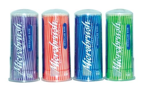 Microbrush Tube Series Applicators Regular Assorted Colours 400/pkg