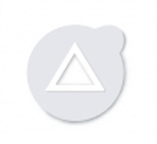 Suremark Clearmarks - Metal Free Semi Lucent Triangle 110/box
