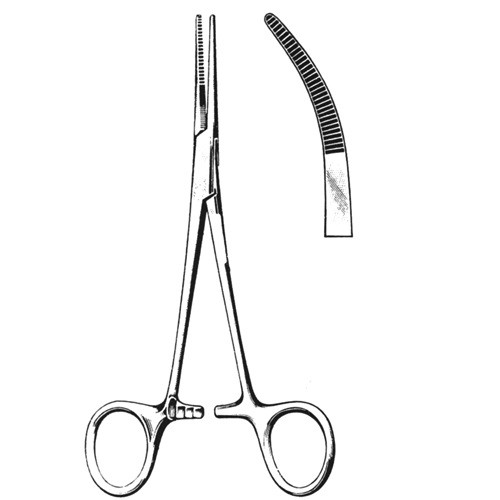 """Sterile Kelly Forceps 5.5"""" Curved"""