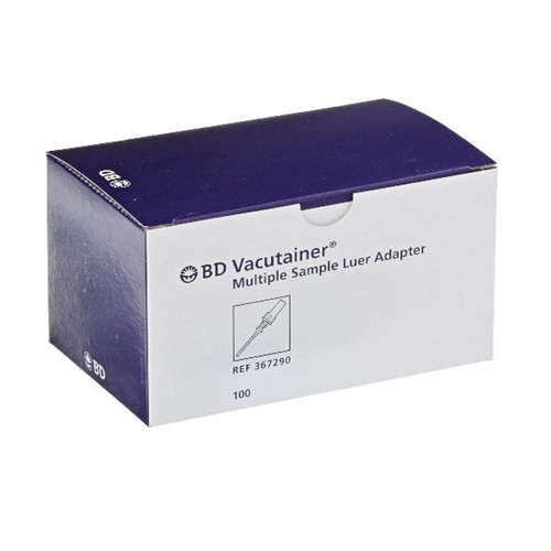 BD Vacutainer Multiple Sample Luer Adapter, 100/box