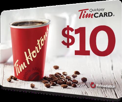 $10 Tim Horton Gift Card
